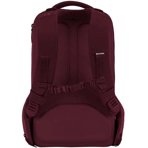 authorized distributor online store incase icon backpack bag for macbook, tab, ipad, tablet, notebook, laptop, netbook, deep red colour australia