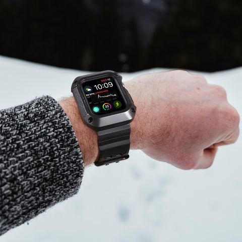 Shop Australia stock FLEXII GRAVITY Rugged Protective Case With Strap Band For Apple Watch Series 5/4 (40mm) - Black/Black with free shipping online. Shop FlexiiGravity collections with afterpay