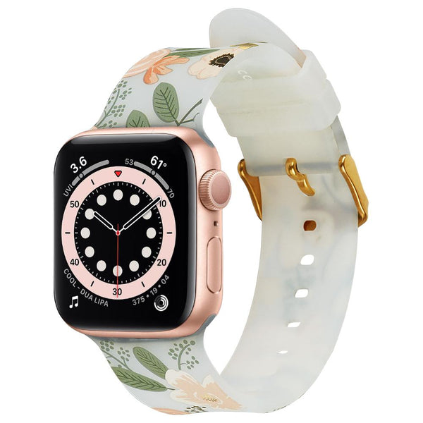 Buy new watch band for Apple watch series with floral design show off your feminim side with Rifle Paper Co.