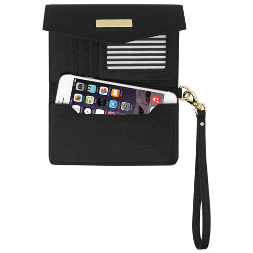Kate Spade New York Saffiano Wristlet Phone Case upto 4.7 inch - Black Australia Stock