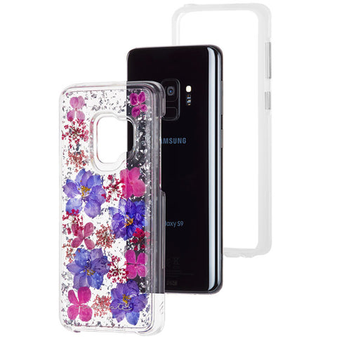 CASEMATE KARAT GENUINE FLOWERS PETALS CASE FOR GALAXY S9 - PURPLE