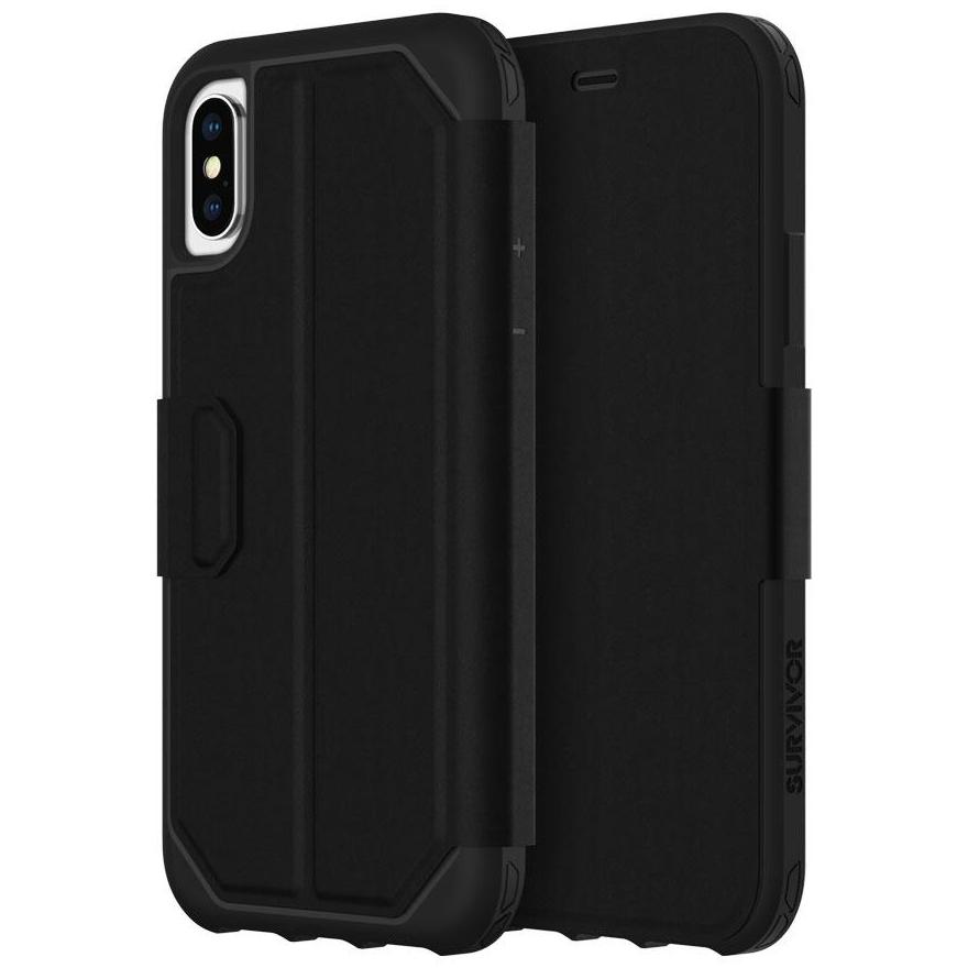 big sale 68de6 44bbe GRIFFIN SURVIVOR STRONG WALLET CARD FOLIO CASE FOR IPHONE XS MAX - BLACK