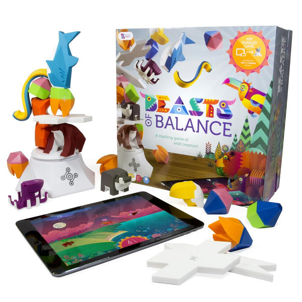 Sensible Objects Beasts Of Balance Digital Tabletop Hybrid Family Stacking Game