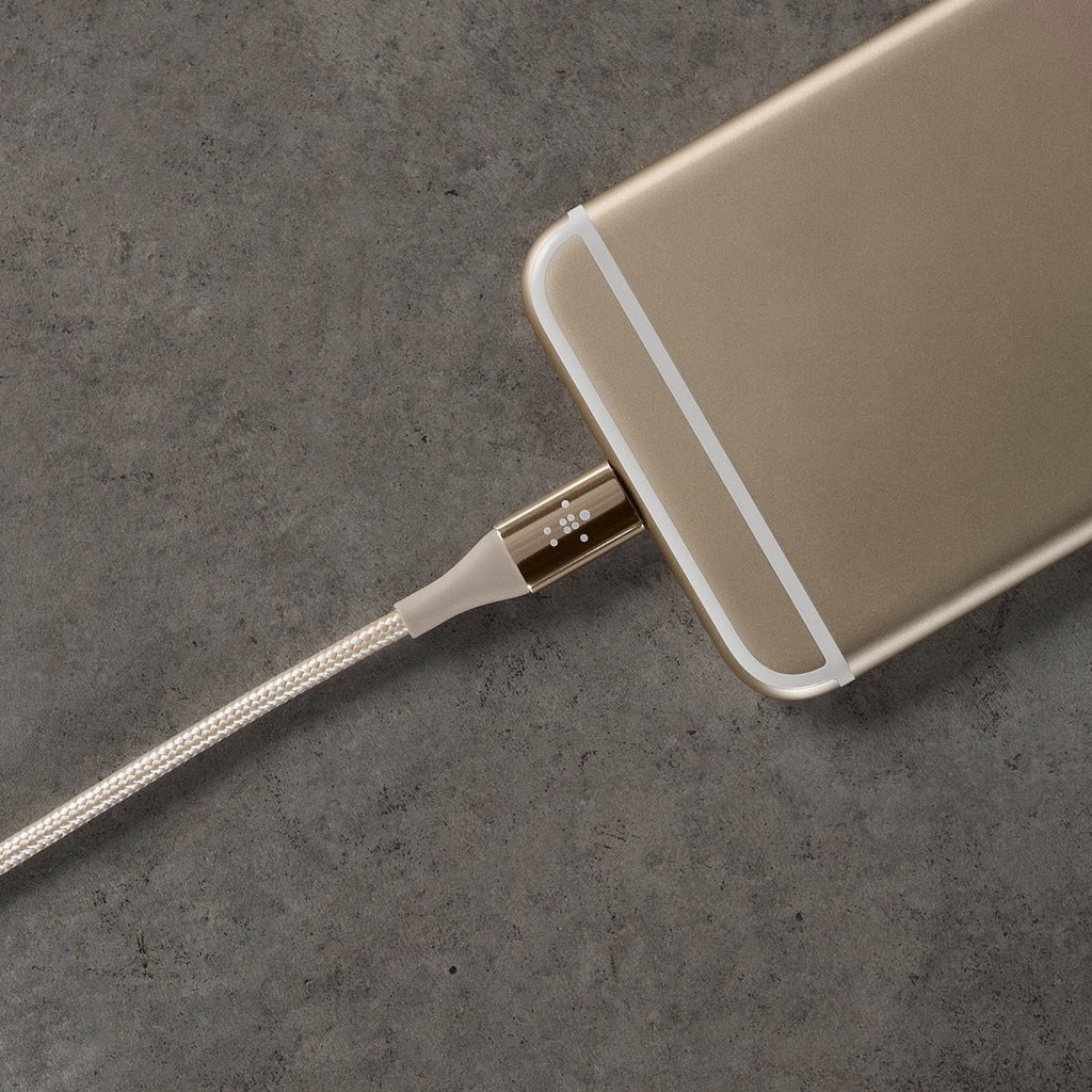 Shop Australia stock Belkin DuraTek Dupoint Kelvar Double braiding Lightning to USB Cable 1.2 Meter - Gold with free shipping online. Shop Belkin collections with afterpay Australia Stock