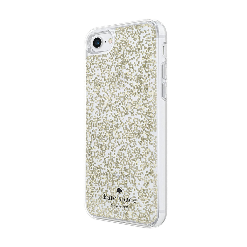 Kate Spade New York Protective Clear Glitter Case for iPhone 8/7 - Gold Glitter Australia Stock