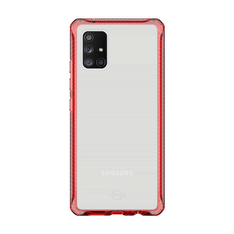 place to buy online samsung galaxy a71 clear case red case from itskins. buy online with afterpay payment and free shipping