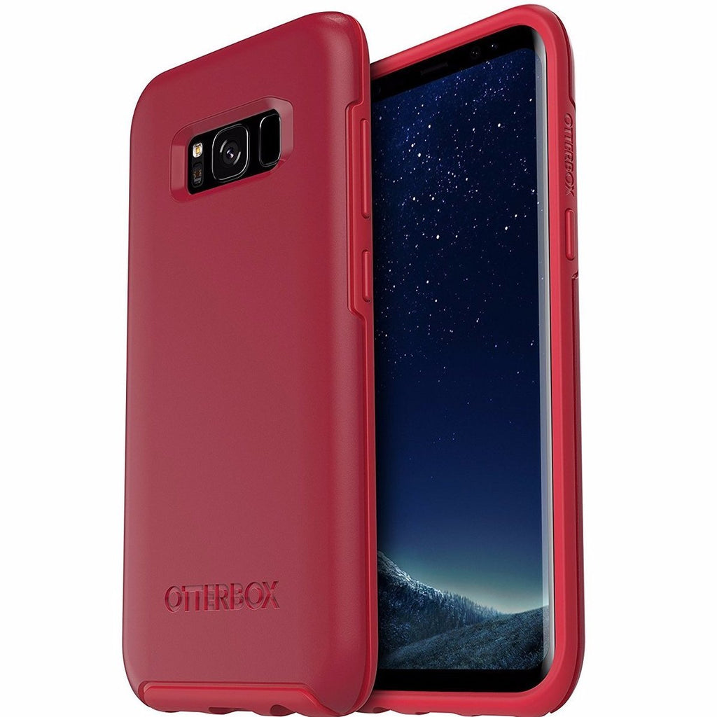 Official online store to buy OTTERBOX Symmetry Sleek Slim case for Galaxy S8+ (6.2 inch) - RED. Free shipping Australia wide from authorized distributor Syntricate. Australia Stock