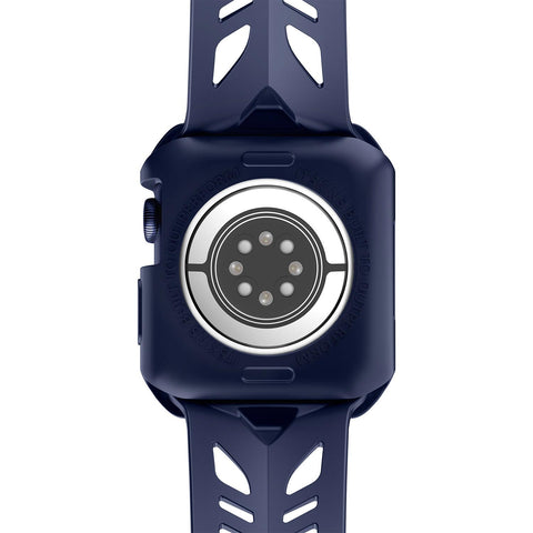 Anti backterial case & strap for Apple Watch series from itskins comes with matte blue the authentic accessories with afterpay & Free express shipping.