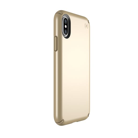 buy speck presidio metallic case for iphone x - pale yellow gold/camel brown Australia Stock