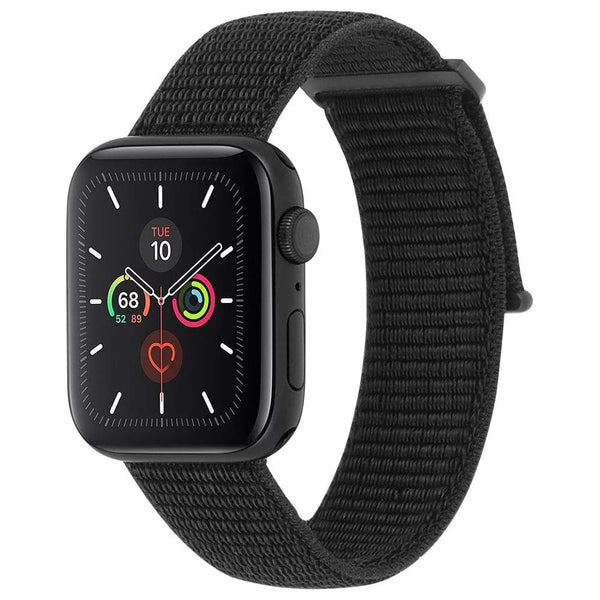 nylon watch band strap for apple watch series 1/2/3/4/5 38mm-40mm black straps nylon material from casemate