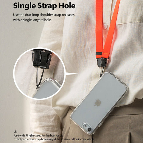 RINGKE Shoulder Strap For Phone Cases /Camera - Neon Orange