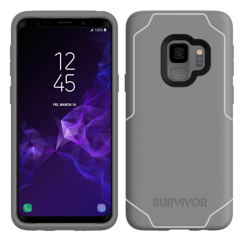 new product d989b 7575e GRIFFIN SURVIVOR STRONG CASE FOR GALAXY S9 - GREY/WHITE
