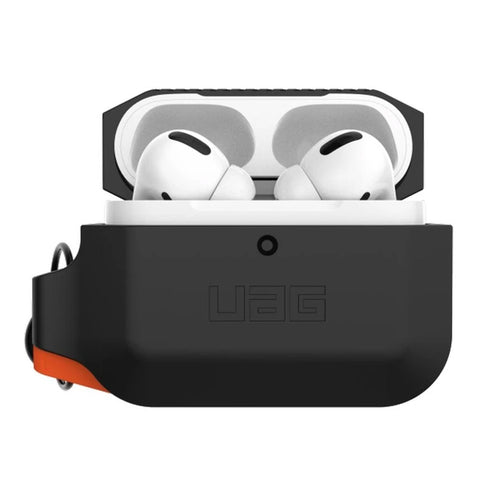 UAG Silicone Protective Rugged Case For AirPods Pro - Black/Orange