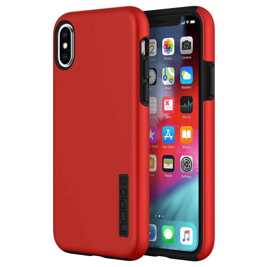 official photos fee83 e11cf INCIPIO DUALPRO DUAL LAYER PROTECTIVE CASE FOR IPHONE XS MAX - RED/BLACK