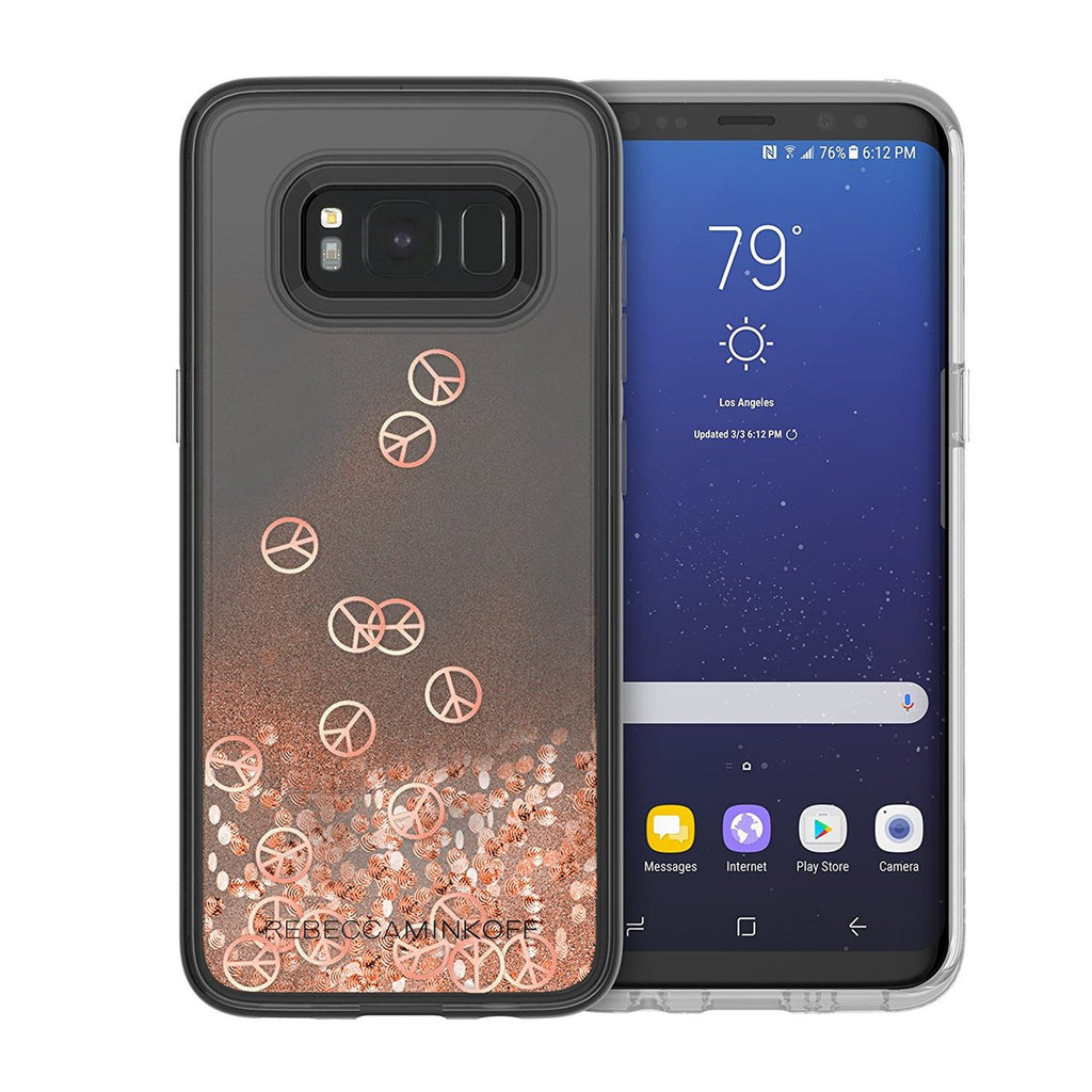 Shop Australia stock REBECCA MINKOFF GLITTER FALL CASE FOR GALAXY S8 - ROSE GOLD PEACE SIGN with free shipping online. Shop Rebecca Minkoff collections with afterpay Australia Stock
