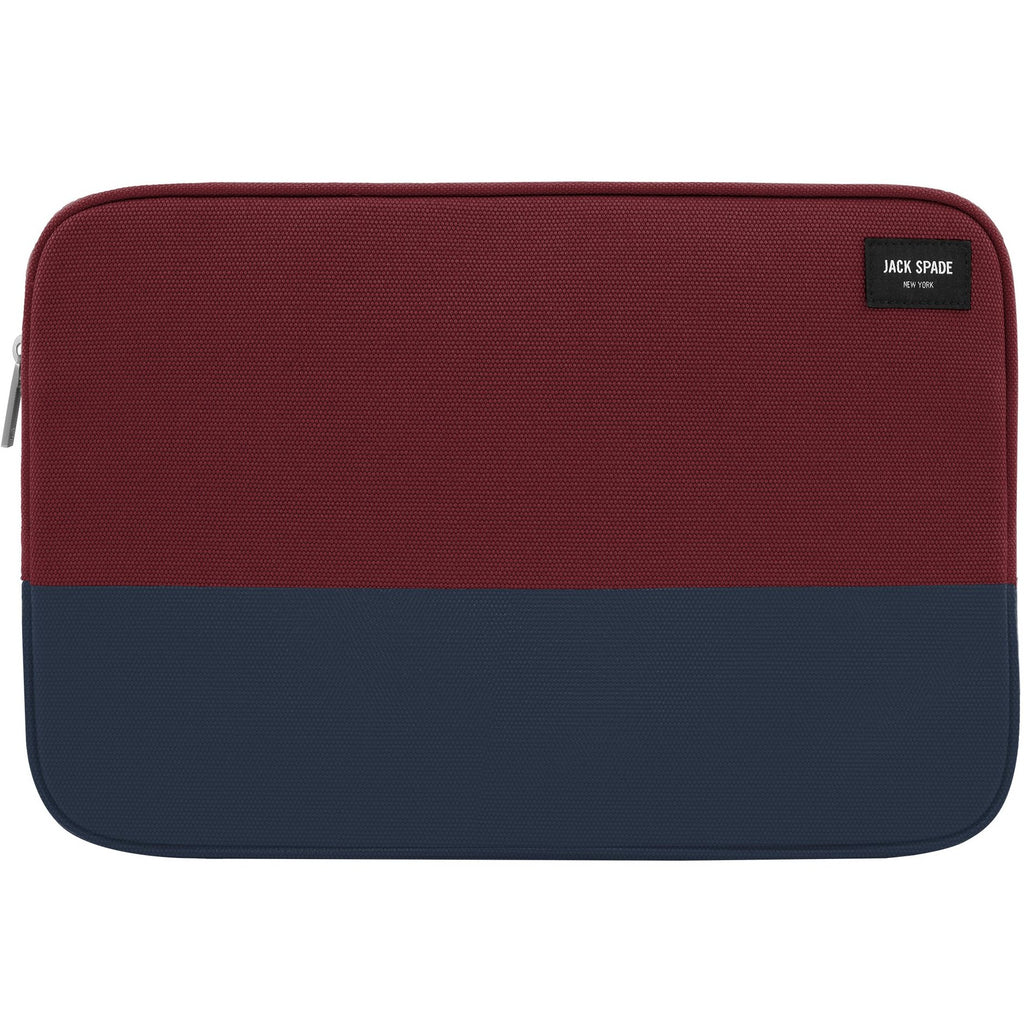 official place to buy online jack spade new york colorblock dipped canvas sleeve for macbook 13 inch - burgundy/navy. Free australia express shipping. Australia Stock