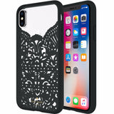 Place to buy high fashion cases from auhtorized distributor KATE SPADE NEW YORK LACE CAGE CASE FOR IPHONE X - HUMMINGBIRD BLACK AND CLEAR. Free shipping Australia wide.