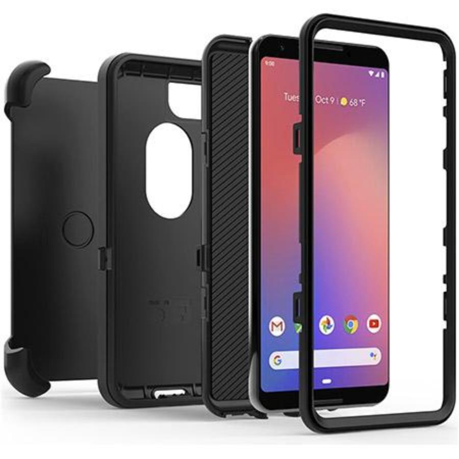 OTTERBOX DEFENDER SCREENLESS EDITION RUGGED CASE FOR GOOGLE PIXEL 3 - BLACK Australia Stock