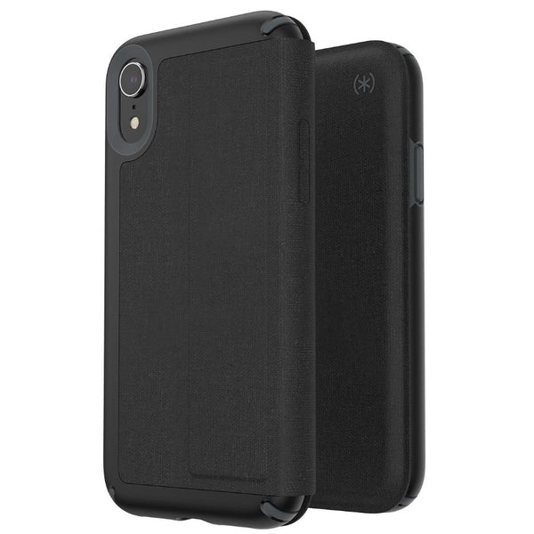 flip folio case for iphone xr with free shipping black. PU leather case from Speck Australia