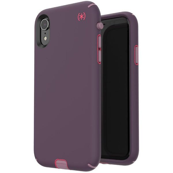 shop the new iphone xr case from speck australia - purple pink. stylish case for iphone xr presidio sport series