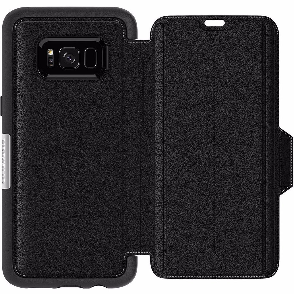 Place to buy card wallet leather case by Otterbox Strada Premium Leather Folio Case For Galaxy S8 - Black. Authorized distributor offer free express shipping Australia wide only on Syntricate. Australia Stock