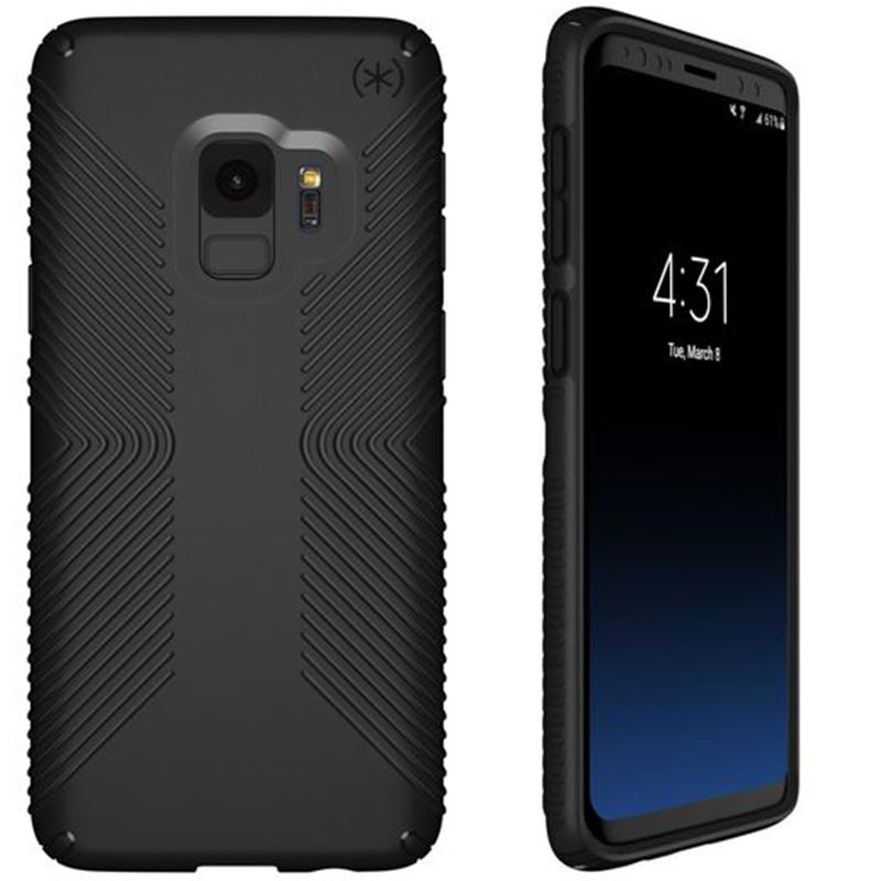new product 6b7c1 8ad2b SPECK PRESIDIO GRIP IMPACTIUM CASE FOR GALAXY S9 - BLACK/BLACK