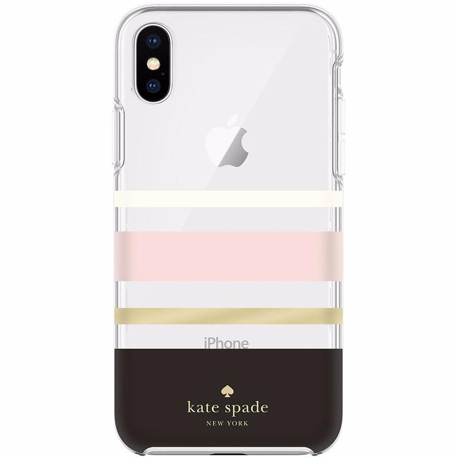 KATE SPADE NEW YORK PROTECTIVE HARDSHELL CASE FOR IPHONE X - CHARLOTTE STRIPE Australia Stock