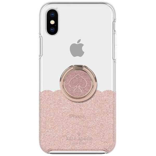 Get the latest GIFT SET PROTECTIVE CASE & RING STAND FOR IPHONE XS MAX - SCALLOP ROSE GOLD/CLEAR FROM KATE SPADE NEW YORK with free shipping online.