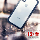 CASEMATE TRANSLUCENT PROTECTION CASE FOR IPHONE XS/X - CLEAR/BLACK