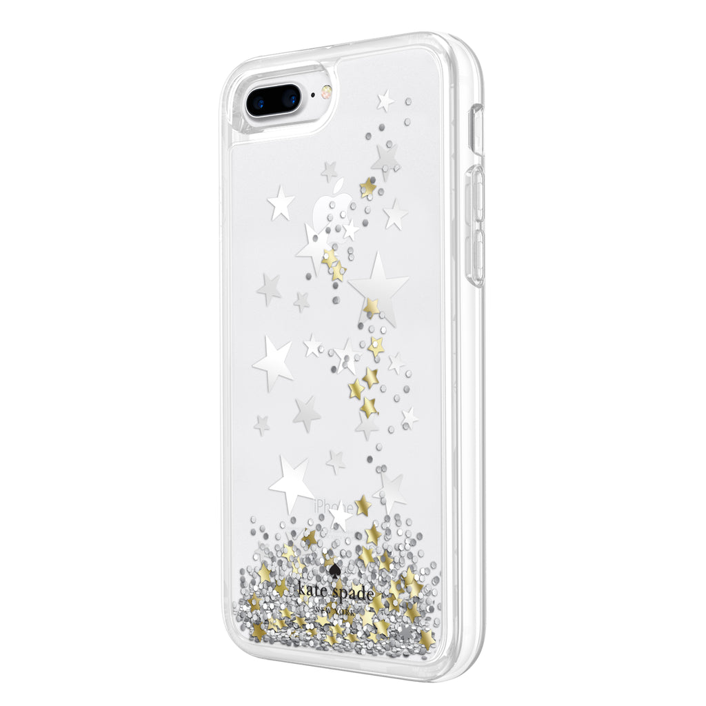 KATE SPADE NEW YORK LIQUID GLITTER CASE FOR IPHONE 8 PLUS/7 PLUS - STARS/GOLD/SILVER Australia Stock