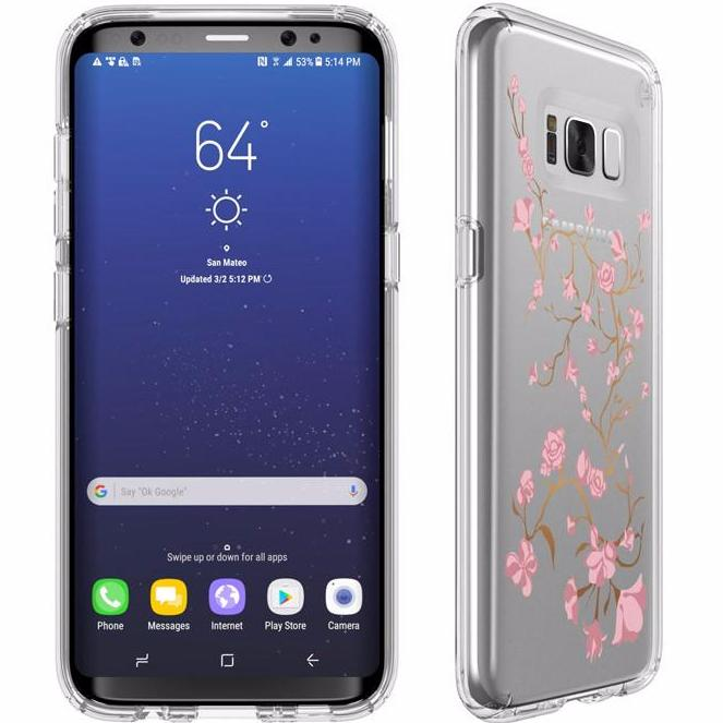 Place to buy sweet printed clear case from Speck Presidio Impactium Clear + Print Case For Galaxy S8 - Blossoms. Free express shipping Australia. Australia Stock