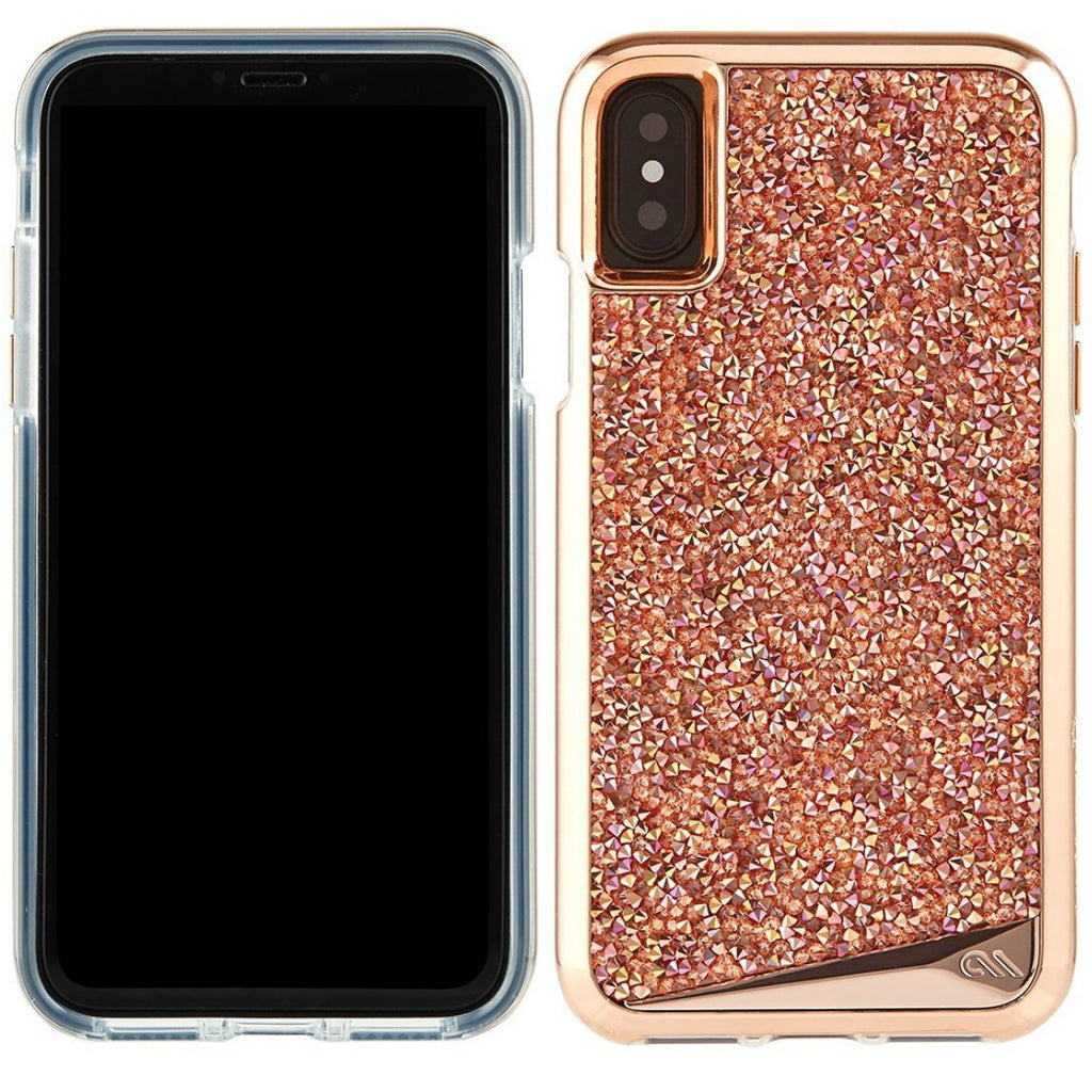 buy genuine authentic from official store Casemate Brilliance Tough Genuine Crystal Case For Iphone X - Rose Gold. Free express shipping australia. Australia Stock