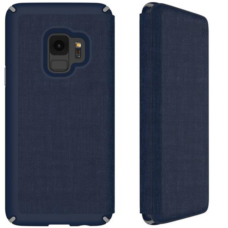 Speck Presidio Impactium Folio Case For Galaxy S9 - Heathered Blue/grey Australia Stock