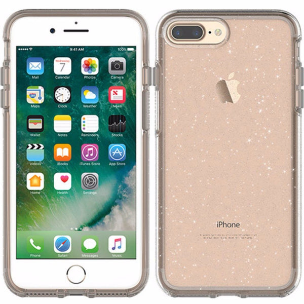 place to get and buy see through OTTERBOX SYMMETRY CLEAR CASE FOR iPHONE 8 PLUS/7 PLUS - STARDUST(SILVER FLAKE). Free express shipping Australia wide.