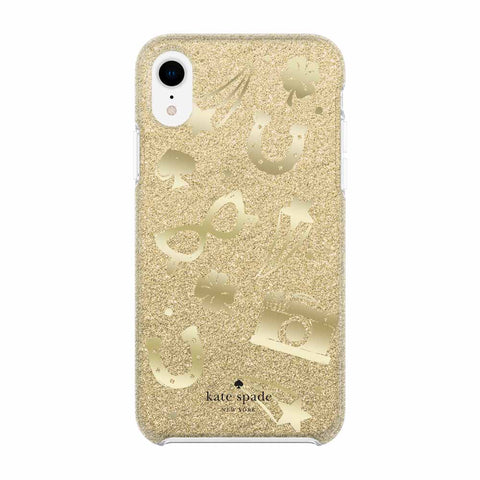 Shop Australia stock KATE SPADE NEW YORK PROTECTIVE HARDSHELL CASE FOR IPHONE XR - CHARM TOSS GOLD GLITTER/FOIL with free shipping online. Shop Kate Spade New York collections with afterpay