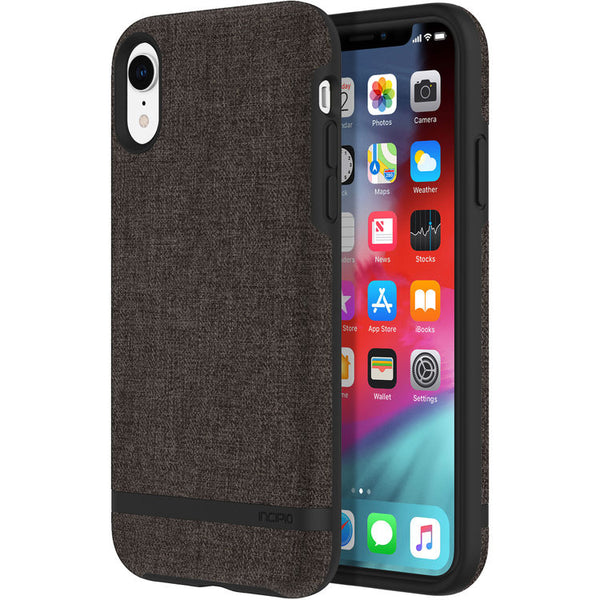 grey case for iphone xr with fabric material from incipio