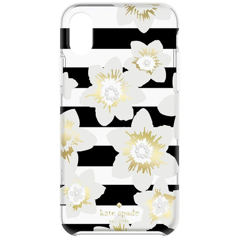 Shop Australia stock KATE SPADE NEW YORK PROTECTIVE HARDSHELL CASE FOR IPHONE XS/X - GARDEN BLOOM BLACK/GOLD/GEM with free shipping online. Shop Kate Spade New York collections with afterpay