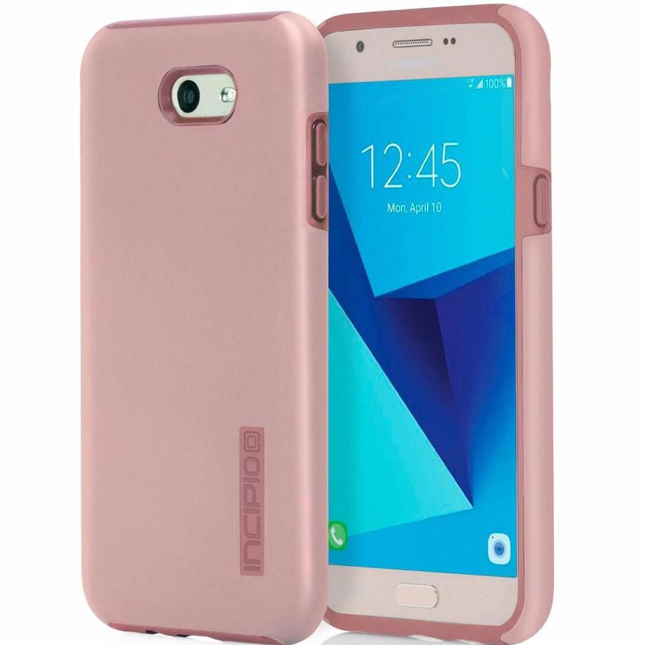 INCIPIO DUALPRO PROTECTIVE CASE FOR GALAXY J7 PRIME - ROSE GOLD