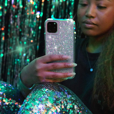 girly case for iphone 11 pro with glitter design from casemate