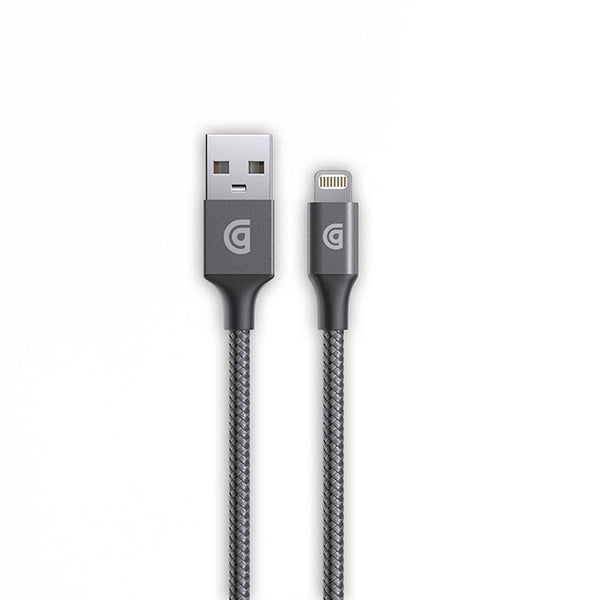 gray iphone ipad cable from griffin, gray braided lighting charging cable 1.5 meter