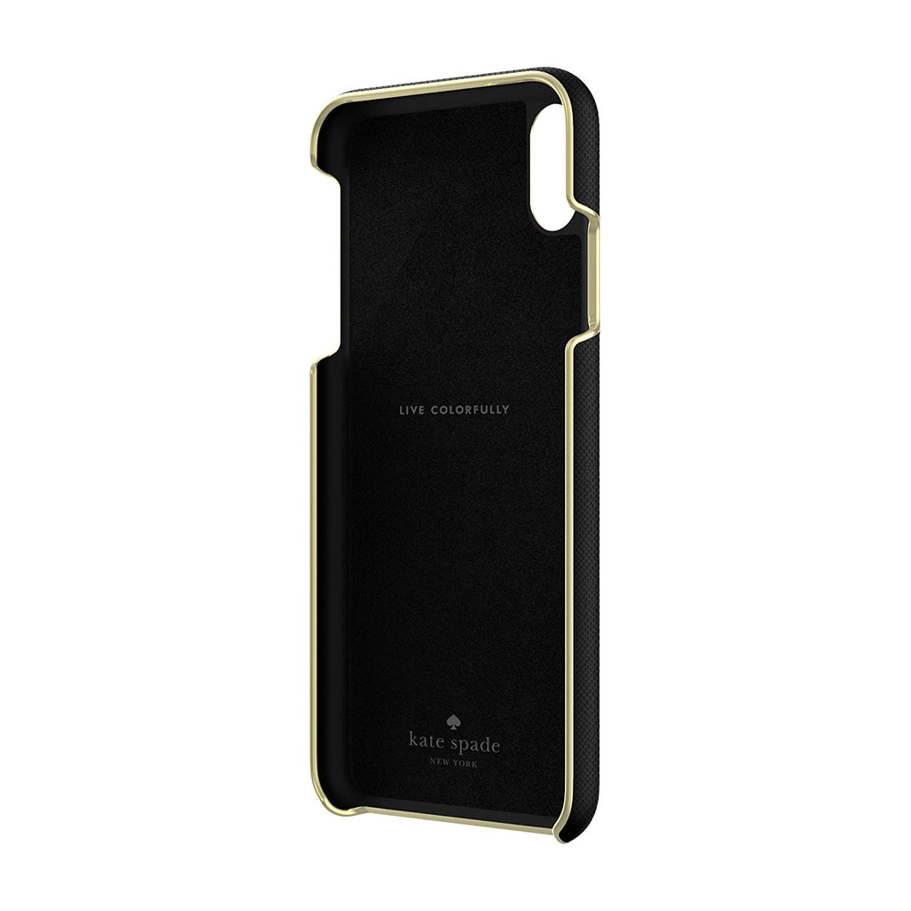 KATE SPADE NEW YORK WRAP CASE FOR IPHONE XS MAX - SAFFIANO BLACK Australia Stock