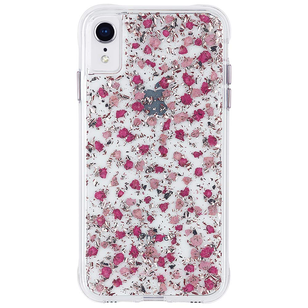 girly case for iphone xr, flower pink colour from casemate Australia Stock