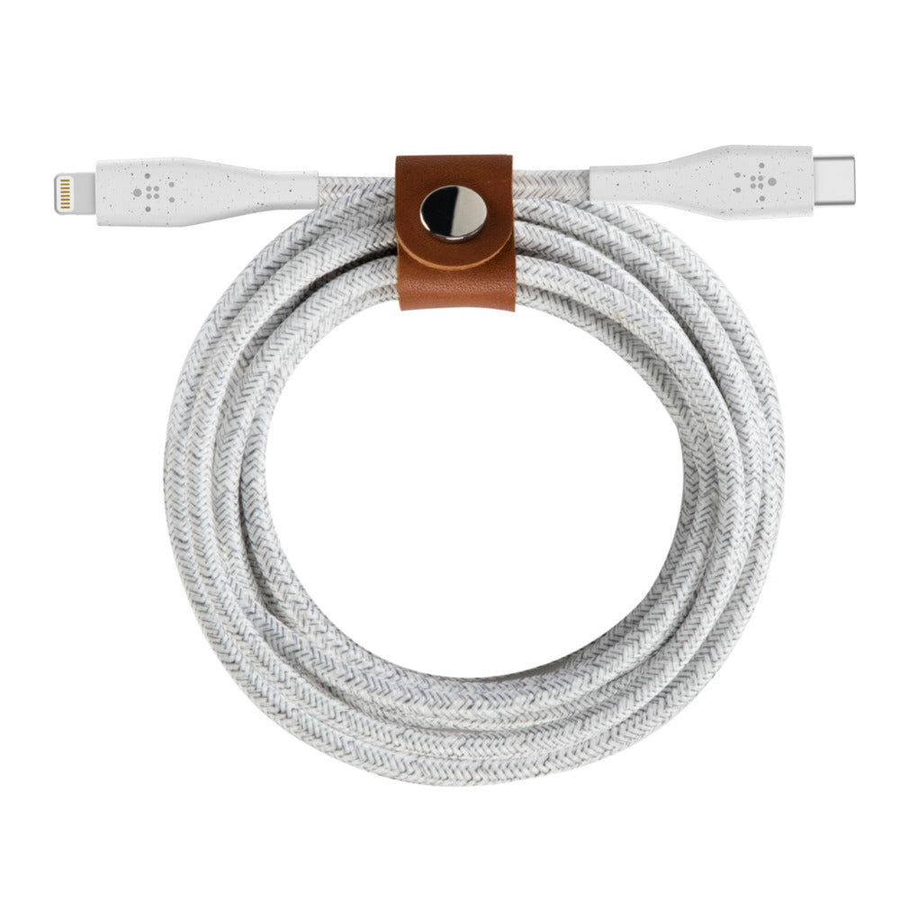 Shop Australia stock BELKIN BOOST CHARGE DuraTek USB-C Cable with Lightning Connector + strap 1.2M - White with free shipping online. Shop Belkin collections with afterpay Australia Stock
