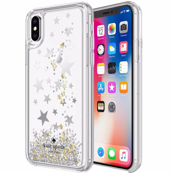 Fashionable Case from Kate Spade New York Liquid Glitter Case For Iphone X - Stars (Silver /Gold Foil / Star Confetti). Free express shipping australia from authorized distributor and official store Syntricate.