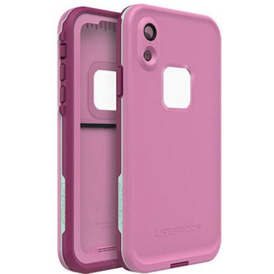 front back side view of fre waterproof pink case for iphone xr Australia Stock