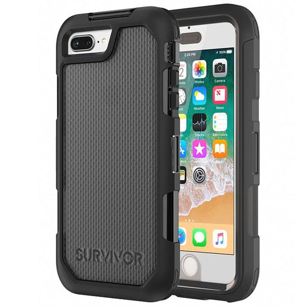 rugged case shockproof case black colour for iphone 8 plus iphone 7 plus