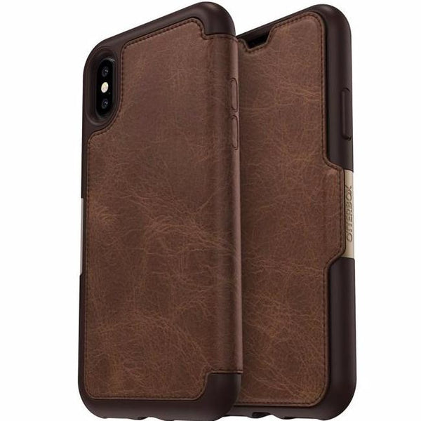 Where place to shop and buy genuine Otterbox Strada Leather Card Folio Case For Iphone XS/X - Espreso. Free express shipping Australia wide only on authorized distributor Syntricate.