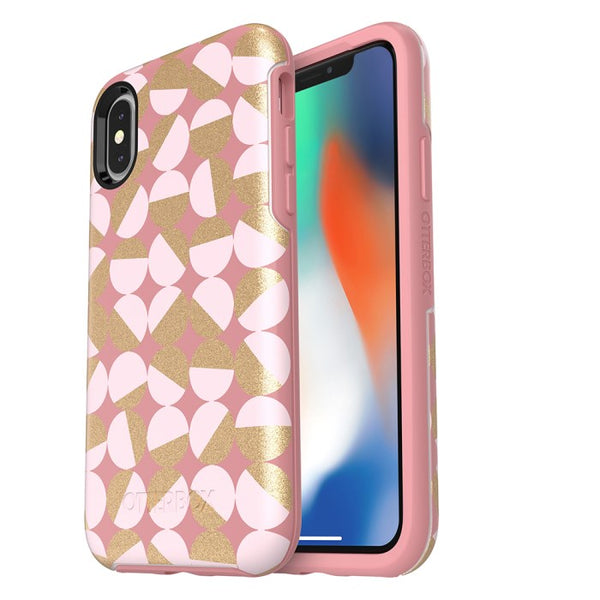 Authorized distributor to shop and buy genuine iPhone XS/X Otterbox Symmetry Graphics Stylish Printed Color Case Pale Beige Blush Australia. Free express shipping Australia wide fro trusted official online store Syntricate.