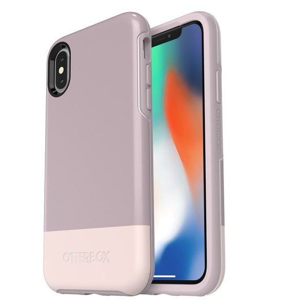 Best deals with cheapest and lowest price of Iphone XS/X Otterbox Symmetry Graphics Stylish Printed Color Case White/Pale Mauve Australia. Authorized distributor offer free express shipping Australia wide on trusted official online store Syntricate.