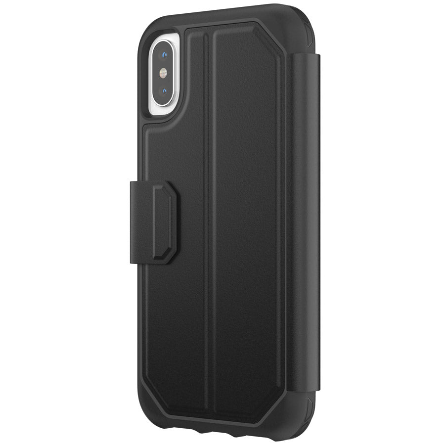 GRIFFIN SURVIVOR STRONG CARD WALLET CASE FOR IPHONE XS/X - BLACK Australia Stock